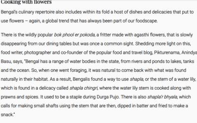 Anindya Sundar Basu on Zero waste Bengali food on Zeezest