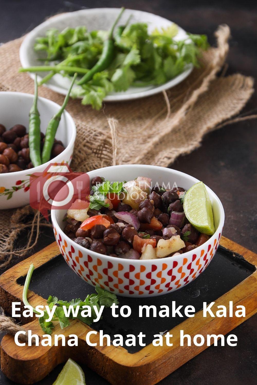 How to make Kala Chana Chaat for Pinterest