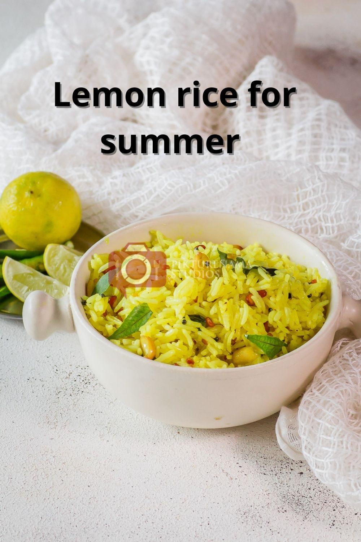Easy lemon rice reciper for Summers 1