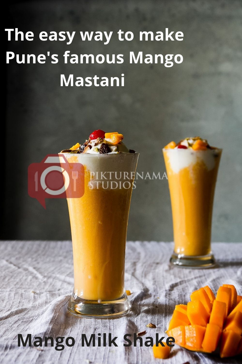 Mango Mastani the cool Summer drink with Mango for Pinterest