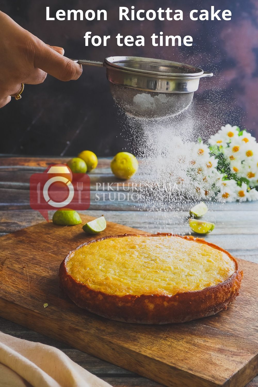 lemon ricotta cake for Pinterest