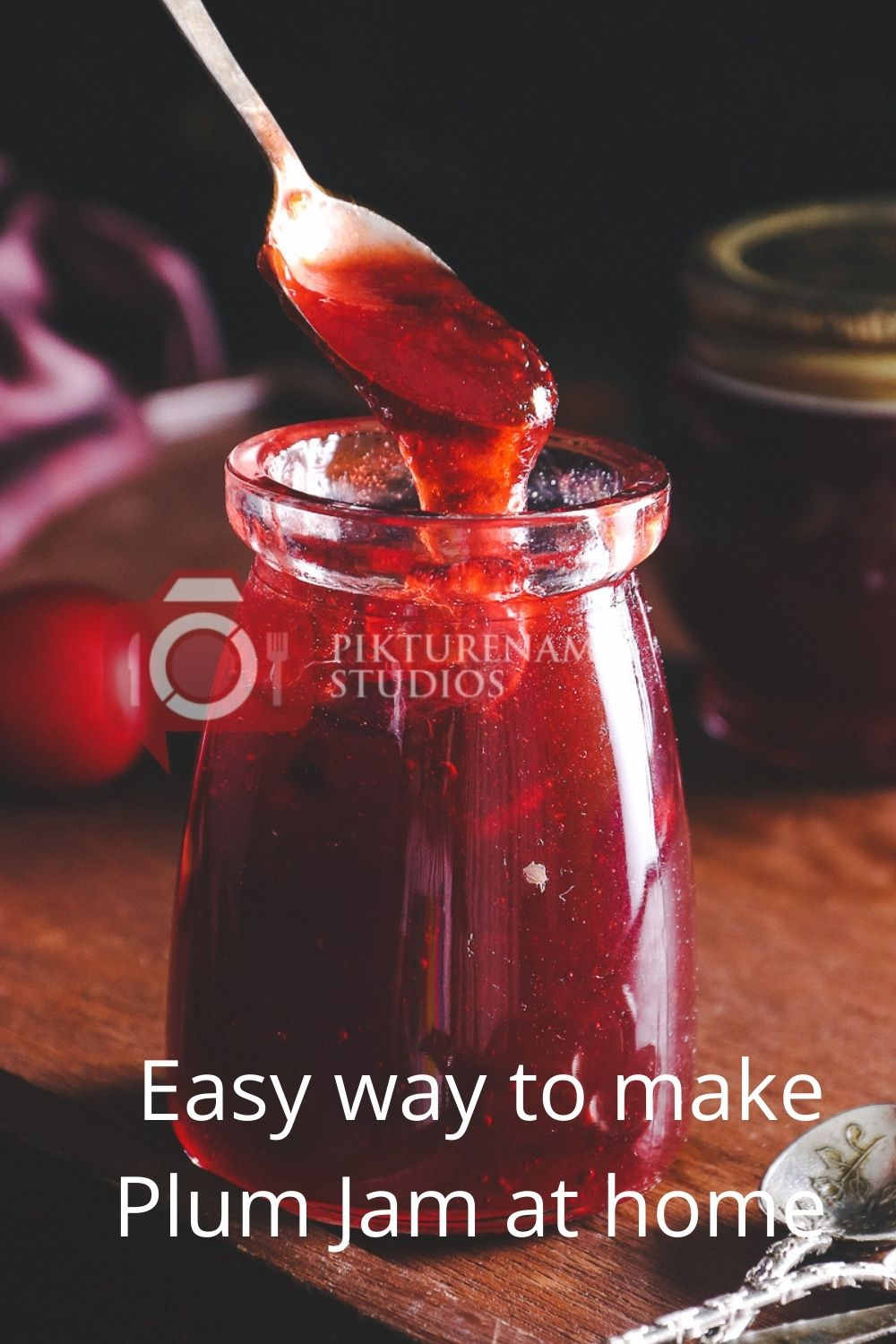 Easyway to make Plum Jam at home for Pinterest - 2
