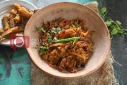 Bombay Duck Stir Fry / bengali loitte macher Jhuri - 5