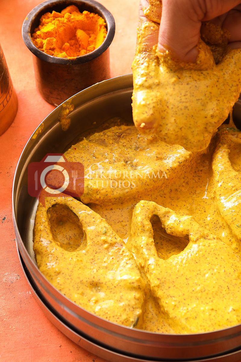 preparation for Bhapa Ilish