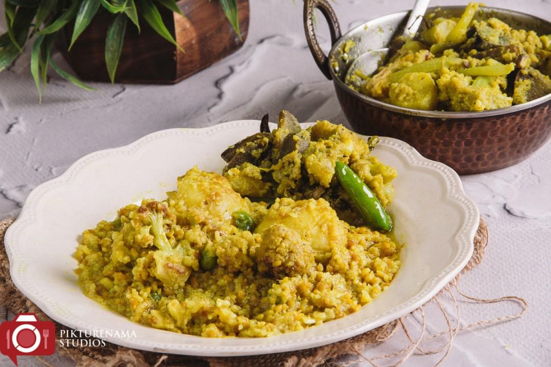 Bhoger Khichuri or Bengali Durgapujo Khichuri - 5