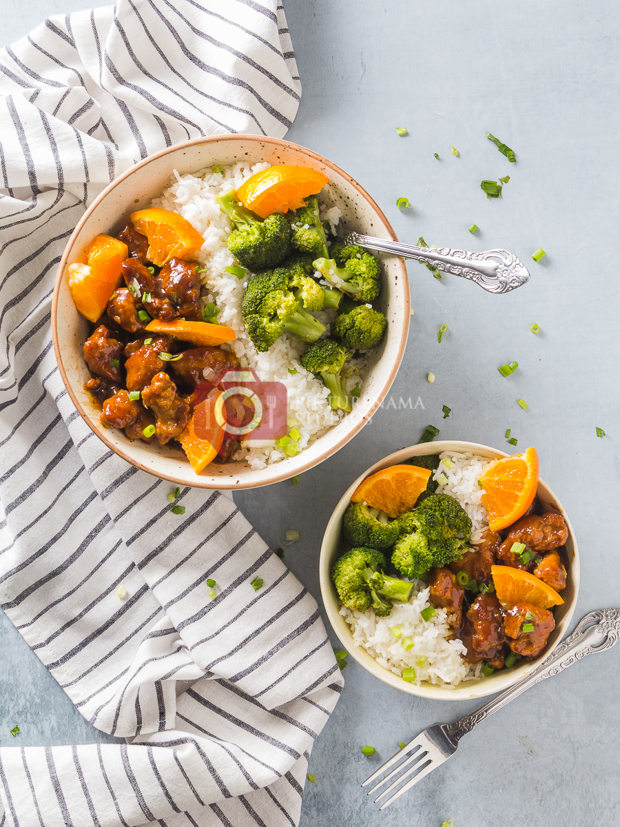 Orange Chicken Rice Bowl- The Quick-fix for Weeknight Dinner Easy way