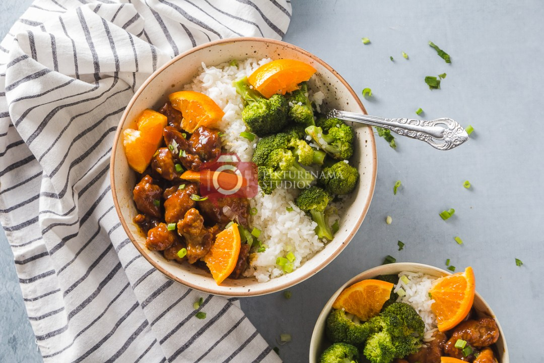 Orange Chicken Rice Bowl- The Quick-fix for Weeknight Dinner make it easy way