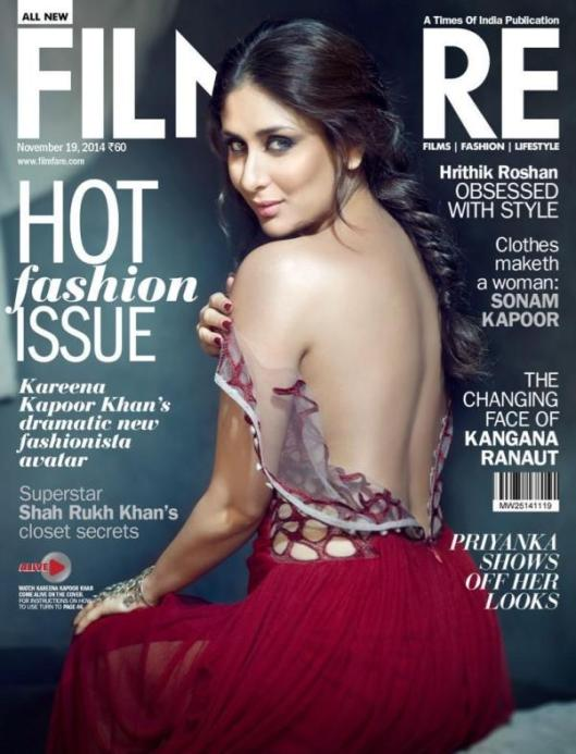 Kareena-Kapoor-in-Backless-Red-Gown-on-Filmfare-Magazine-Cover-Page