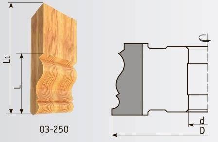 03-250 Фреза 160*40 мм для плинтуса