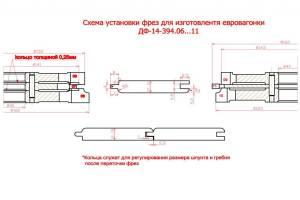 ДФ-14.394.06-11 комплект фрез для изготовления вагонки 160*40