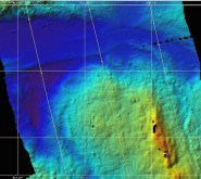 The Chain Fracture Zone mapped using multi-beam echo sounder.
