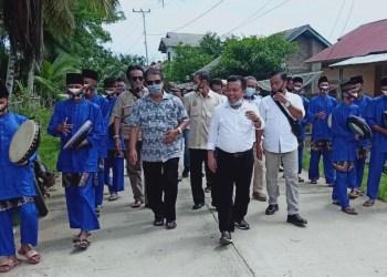 Cagub Al Haris bersama masyarakat aliran Sungai Batanghari.