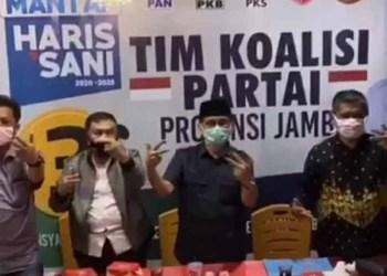 Para Ketua Partai Koalisi Al Haris-Abdullah Sani.