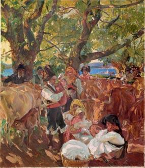 Galicia, la romería, 1915
