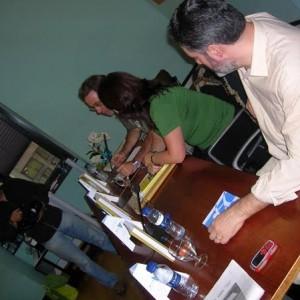 Con Humberto y Chema n'Arribada