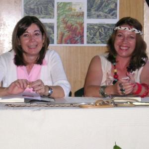 Con Elena, diputada de la JGPA