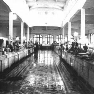 Interior de la pescaderia