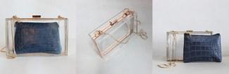 Combo clunch transparente y monedero coco azul The Code (35,90€)