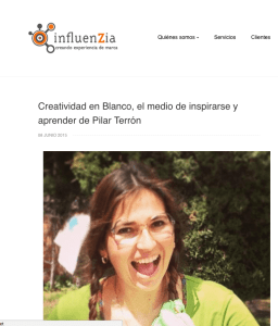 Entrevista a pilar terron en el blog de influenzia