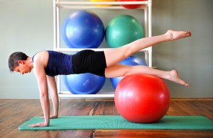 Leg Pull On Ball - Pilates Equipment