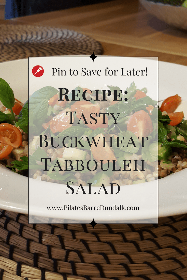 Tasty Buckwheat Tabbouleh Salad