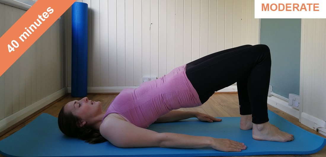Full body Pilates with stretches-t