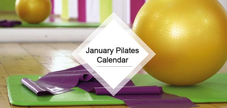 January Pilates calendar