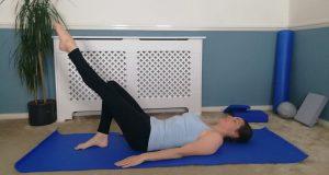 One leg stretch exercise