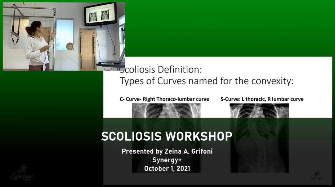 Scoliosis workshop for pilates instructors presented by Zeina Grifoni