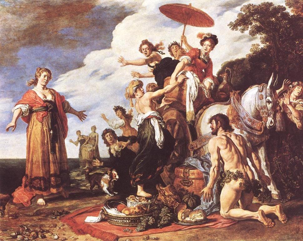 """Питер Ластман """"Одиссей и Навсикая"""" (1619)"""