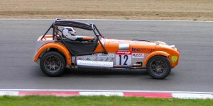 Caterham Seven at Brands Hatch Orange
