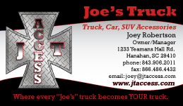 Joe's Trucking Business Card Design