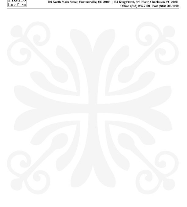 Letterhead Design for Pizarro Law Firm