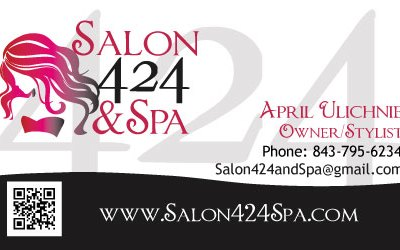 Salon 424 & Spa Business Card Design