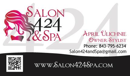 Salon 424 & Spa Business Card Design