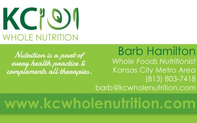 New Business Cards for KC Whole Nutrition!