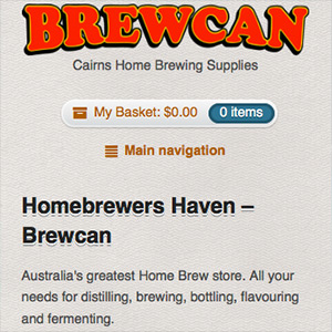 Brewcan mobile view