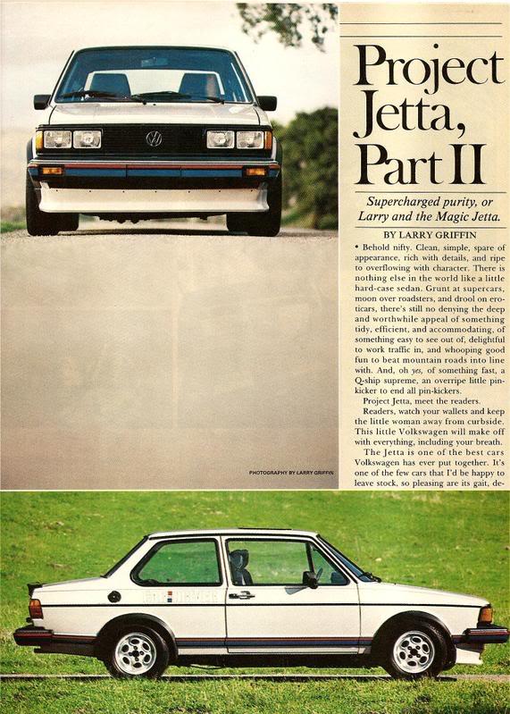 1981 Car & Driver Jetta Project Car