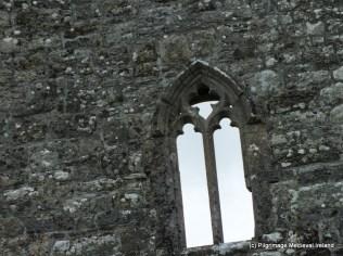 Window in west gable of Urlaur church