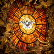 Holy Spirit window at St. Peter's Basilica