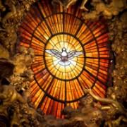 Holy Spirit window at St. Peter's Basilica