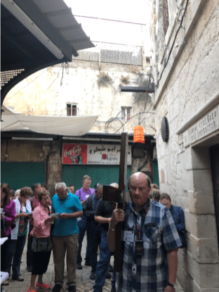 Pilgrims on Via Dolorosa