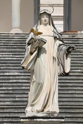 Statue of St. Scholastica, Abbey of Monte Cassino, CC BY-SA 4.0, via Wikimedia Commons