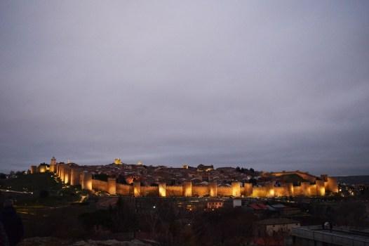 Avila City Wall at Night