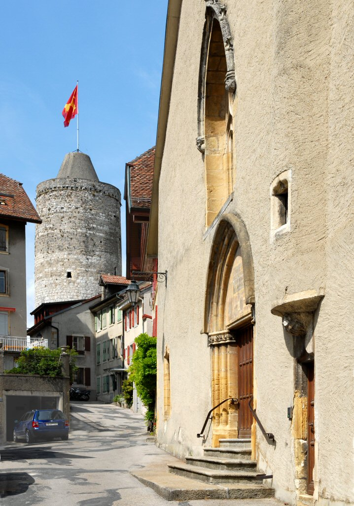 Orbe Chateau and church