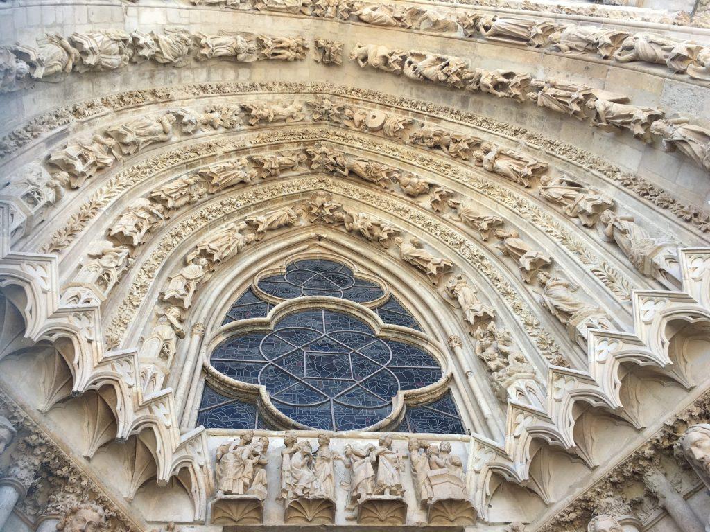 Reims Cathedral front door
