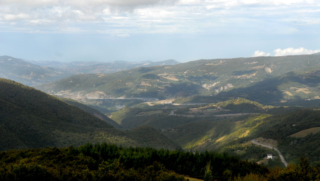 Views of the Cisa Pass the Appenines
