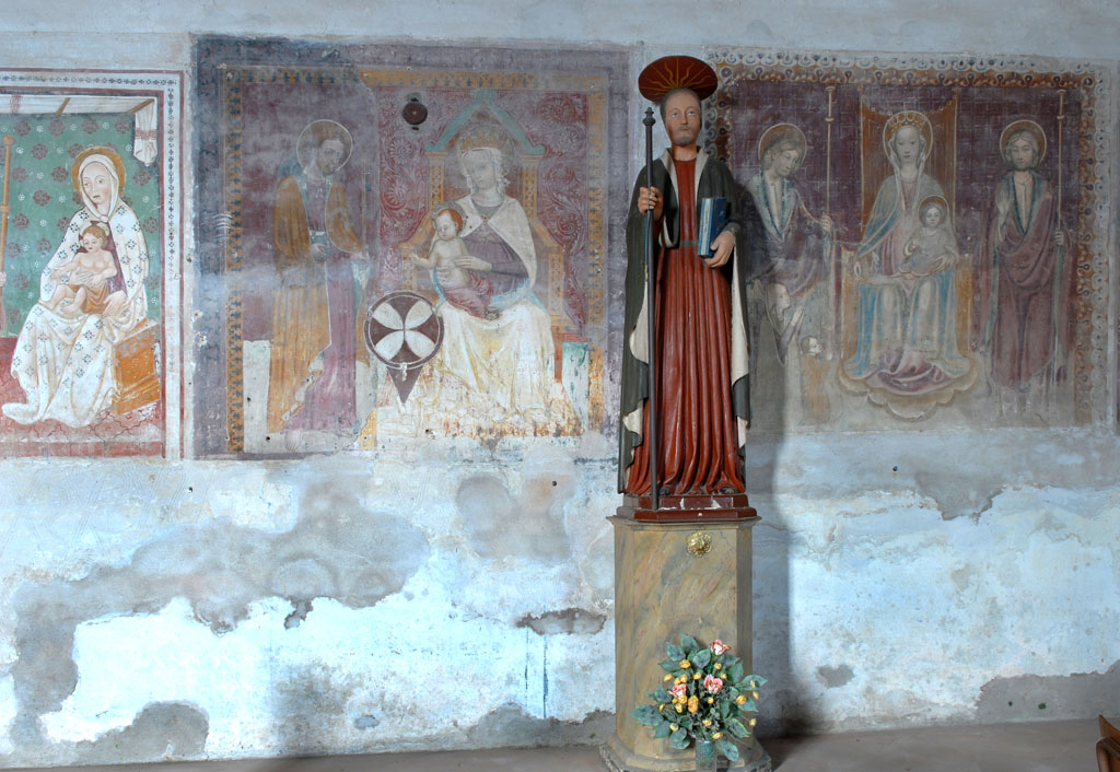 San Giacomo della Ceretta with frescos from the life of St James