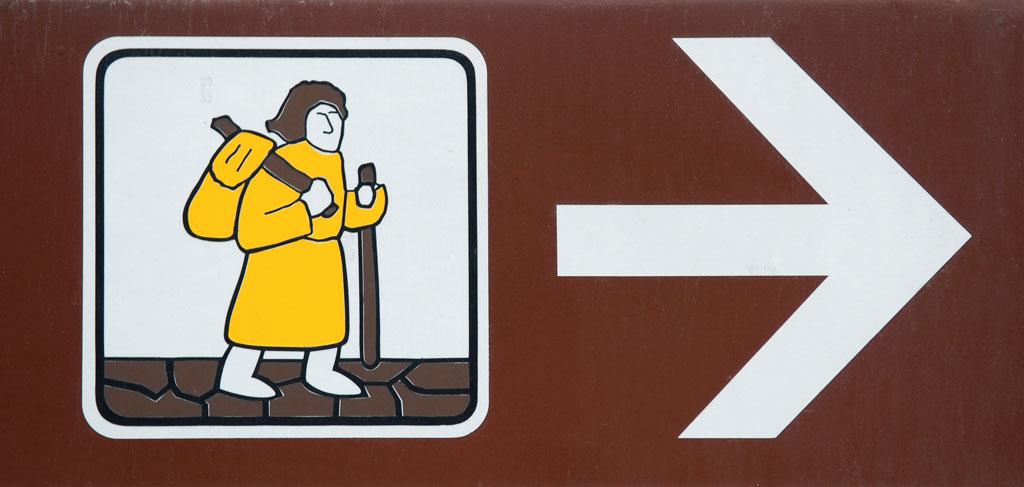 Via Francigena signpost