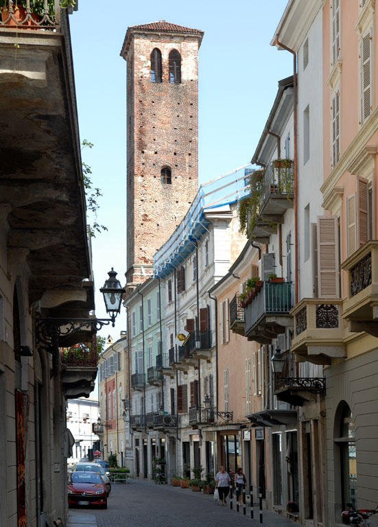 Old Cathedral Tower Vercelli
